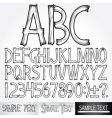 typography vector image vector image