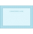 Blue blank document vector image vector image