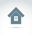 home real estate icon Touristic sign mono vector image
