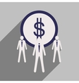 Flat design modern icon Dollar vector image