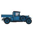 Vintage blue truck vector image