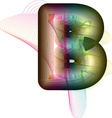 Abstract colorful Letter B vector image vector image