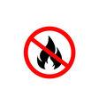 no fire icon vector image