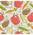 Background with potato pepper carrot vector image