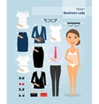 Business lady paper doll Cute girl in office vector image
