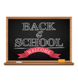 chalk on a blackboard welcome back to school vector image