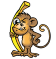 crazy monkey vector image