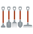 isolated tools for gardening work vector image