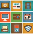 Retro social media icons for design vector image