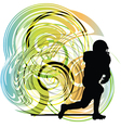 American football player in action vector image
