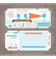 Movie Ticket Wedding Invitation Design Template vector image