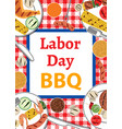 labor day bbq vector image