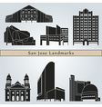 San Jose landmarks and monuments vector image vector image