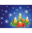 candles and fir branches vector image vector image