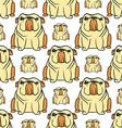 English bulldog pattern seamless vector image
