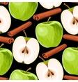 Apple and cinnamon seamless vector image