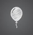balloon sketch logo doodle icon vector image