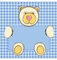 bear for baby boy vector image