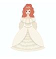 Beautiful princess eps10 vector image