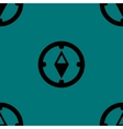 Compass web icon flat design Seamless gray pattern vector image