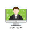Flat design Colorful Concept for Online Meeting vector image