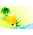 funky summer vector image