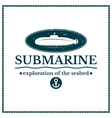 Label submarine exploration of the seabed vector image