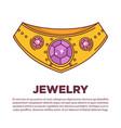 luxury jewelry kind wearing on neck flat vector image