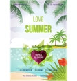 Summer beach background vector image