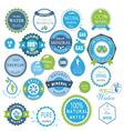 water recycling symbols vector image