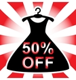 Discount offer with dress vector image