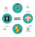 white background infographic woman health with vector image