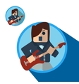 Guitarist icon flat vector image