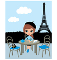 parisian cafe vector image