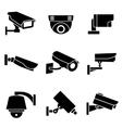 Video surveillance security cameras vector image
