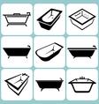 baths icons set vector image