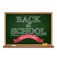 chalk on a blackboard - back to school vector image