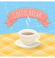 Coffee Cup on the Table vector image