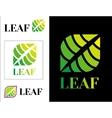 Design Modern eco logos vector image