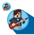Guitarist icon flat vector image