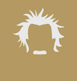 mans hair and mustache symbol vector image