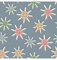 Retro Seamless Flower Background Pastel vector image