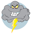 Evil Storm Cloud With Thunderbolt vector image vector image