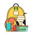 back school icon vector image
