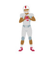 american football player in equipment with ball vector image vector image