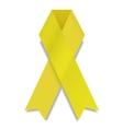modern white ribbon on white background vector image vector image