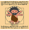 vitruvian ancient man vector image