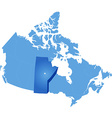 Map of Canada - Manitoba province vector image