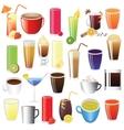 drinks set vector image vector image