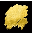 Gold Texture Hand drawn brush vector image